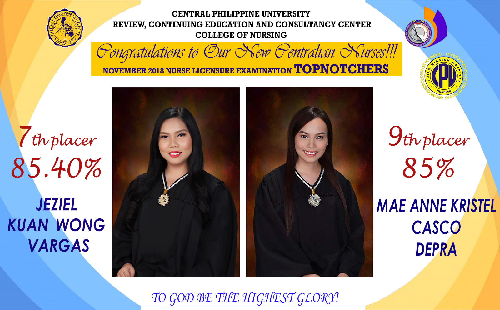 Congratulations to our NLE 2018 Topnotchers!