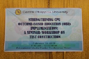 Outcome-Based Education (OBE) Implementation: A Seminar-Workshop on Test Construction