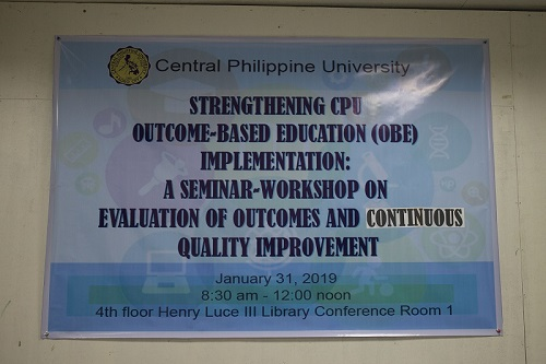 Outcome-Based Education (OBE) Implementation: A Seminar-Workshop on Evaluation of Outcomes and Continuous Quality Improvement
